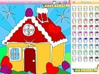 Kid's coloring: Sweet House