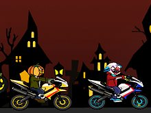 Halloween Bike Racing