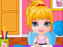 Baby Barbie Homework Slacking