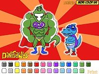 Color Games - Superhero Dinosaurs