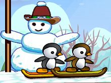 Penguins Skiing